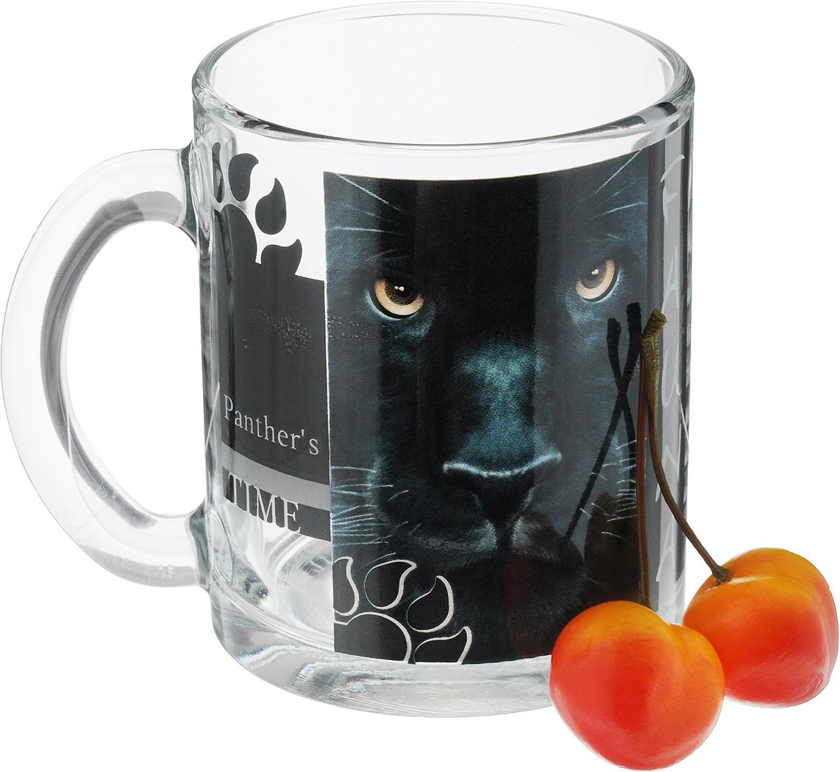 Кружка OSZ Чайная. Дикие кошки. Пантера, 320 мл04C1208-DKK_ПантераКружка OSZ Чайная. Дикие кошки. Пантера изготовлена из стекла и декорирована принтом.Диаметр (по верхнему краю): 8 см. Высота: 9,5 см. Объем: 320 мл.