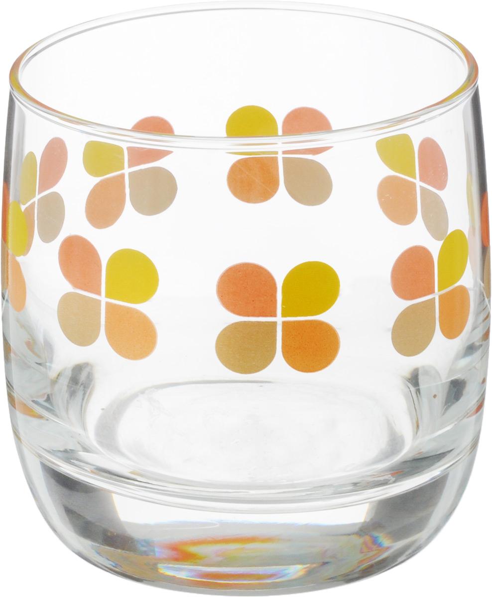 Стакан OSZ Клевер, цвет: желтый, оранжевый, 300 млСГ1-2Стакан OSZ Клевер изготовлен из стекла и декорирован принтом. Диаметр (по верхнему краю): 8 см. Высота: 8,5 см. Объем: 300 мл.