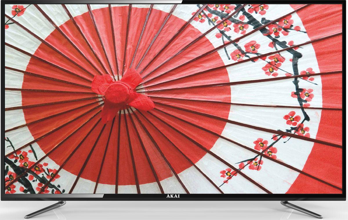 Akai LEA-55B57P телевизорLEA-55B57PAkai LEA-55B57P - ЖК-телевизор со светодиодной подсветкой, разрешением, обеспечивающий хорошую яркость изображения и в то же время экономно расходующий электроэнергию.Телевизор оснащён аналоговым и цифровым ТВ-тюнером. Благодаря этому владелец может принимать программы цифрового ТВ в высоком качестве без дополнительного оборудования.Аудиосистема состоит из двух динамиков мощностью по 10 Вт каждый. Они обеспечивают громкий, насыщенный, реалистичный звук, благодаря которому смотреть фильмы и телепередачи будет особенно приятно.Встроенные разъёмы USB и HDMI можно использовать для подключения различных внешних устройств и носителей информации. С их помощью владелец может выводить на большой экран видеофайлы и изображения с DVD-проигрывателей, ноутбуков, цифровых камер, флешек и так далее.