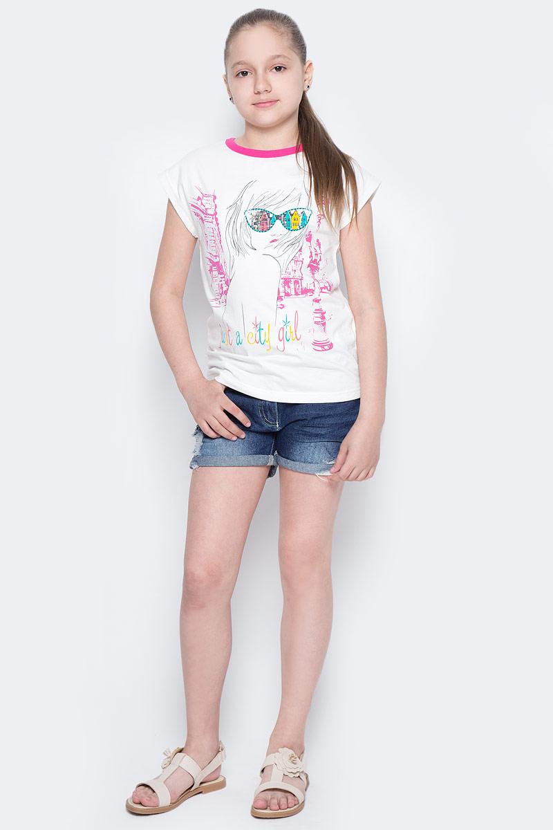 Шорты для девочки Button Blue Main, цвет: синий. 117BBGC6001D500. Размер 122, 7 лет117BBGC6001D500Джинсовые шорты - залог стильного образа для каждого дня жаркого лета. Отличные шорты по доступной цене гарантируют достойный внешний вид, комфорт и свободу движений. В компании с любой майкой, футболкой, топом, шорты составят прекрасный летний комплект. Если вы хотите купить недорогие детские джинсовые шорты, не сомневаясь в их качестве, высоких потребительских свойствах и соответствии модным трендам, шорты от Button Blue - отличный вариант!
