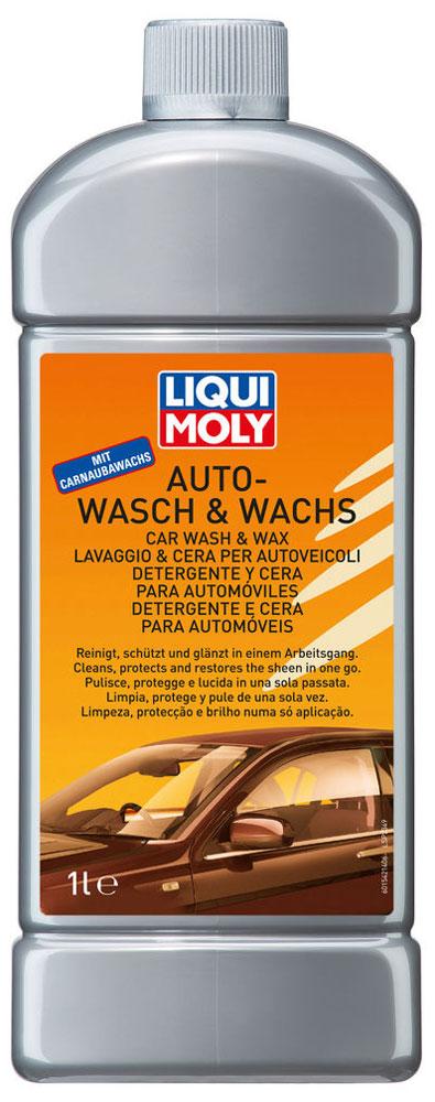 Автошампунь Liqui Moly Auto-Wasch & Wachs, 1 л1542Автошампунь Liqui Moly Auto-Wasch & Wachs - это полностью растворимая в воде молочно-белая жидкость с ароматом персика. В составе шампуня присутствует воск. При использовании оставляет на кузове тонкий защитный слой воска, отсекающий воду, защищающий от вредного влияния атмосферы, придающий поверхности блеск. Защищает лаковую поверхность и придает блеск. Шампунь содержит активные моющие вещества, эффективно удаляющие масляные и жирные загрязнения. Биологически разлагаемый.Особенности шампуня:Отлично моет и одновременно защищает автомобиль.Не оставляет потеков.Безопасен для поликарбонатных стекол.Облегчает дальнейшую полировку.Хранить при положительной температуре!Товар сертифицирован.