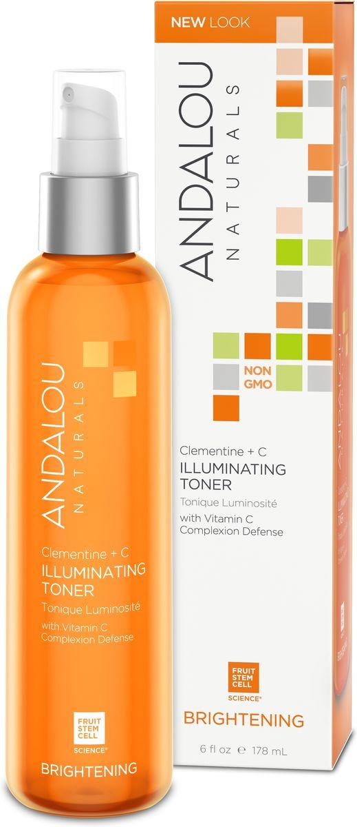 ANDALOU Тоник для восстановления цвета кожи «Клементин + витамины»Коллекция Сияние,178 мл25126Для нормальной и комбинированной кожи. Комплекс со стволовыми клетками фруктов, содержащий антиоксиданты и витамины В5, Е и С, оказывает на клетки мощное тонизирующее действие, уменьшает гиперпигментацию и защищает клетки кожи от разрушительного воздействия UV лучей. Восстанавливает здоровый цвет лица. Алоэ вера эффективно увлажняет и насыщает клетки кожи кислородом, улучшает кровообращение. Комплекс витаминов придает лицу здоровый, сияющий вид и усиливает защитные способности кожи. Экстракт Клементина содержит большое количество витамина С и других антиоксидантов, защищающих организм от воздействия свободных радикалов, а также цитрусовые кислоты, уничтожающие бактерии. Стимулирует выработку коллагена в клетках кожи и уменьшает морщины.