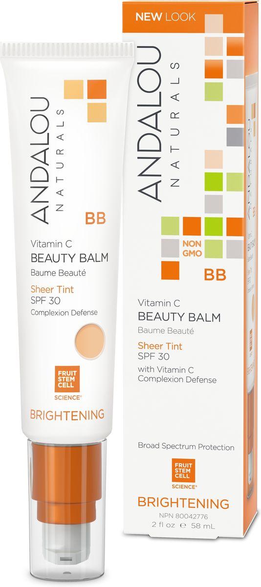 ANDALOU ВВ крем-бальзам для лица SPF 30 (натуральный оттенок)Коллекция Сияние,58 мл25185Для нормальной и комбинированной кожи. Комплекс со стволовыми клетками фруктов является основой BB крема-бальзама. Сочетание ингредиентов, содержащих антиоксиданты, питательные и увлажняющие вещества, а также широкий спектр защиты в комплексе обеспечивают природный минеральный оттенок кожи. Здоровый, безупречный комплексный make-up уход за кожей в один легкий шаг. -Естественный цвет кожи-Сочетается с большинством тонов кожи-Носится отдельно или под макияж-Защита от UV излучения , SPF 30