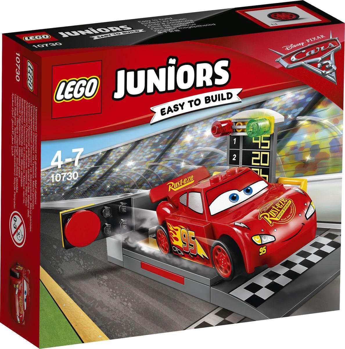 LEGO Juniors Конструктор Устройство для запуска Молнии МакКуина 10730 конструктор lego juniors устройство для запуска молнии маккуина 10730