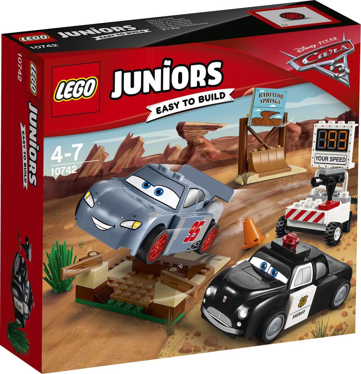 LEGO Juniors Конструктор Тренировочный полигон Вилли Бутта 10742 lego juniors конструктор финальная гонка флорида 500 10745