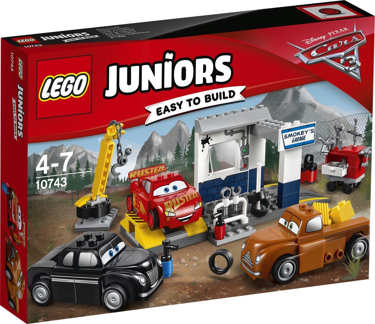 LEGO Juniors Конструктор Гараж Смоуки 10743 конструктор lego juniors устройство для запуска молнии маккуина 10730