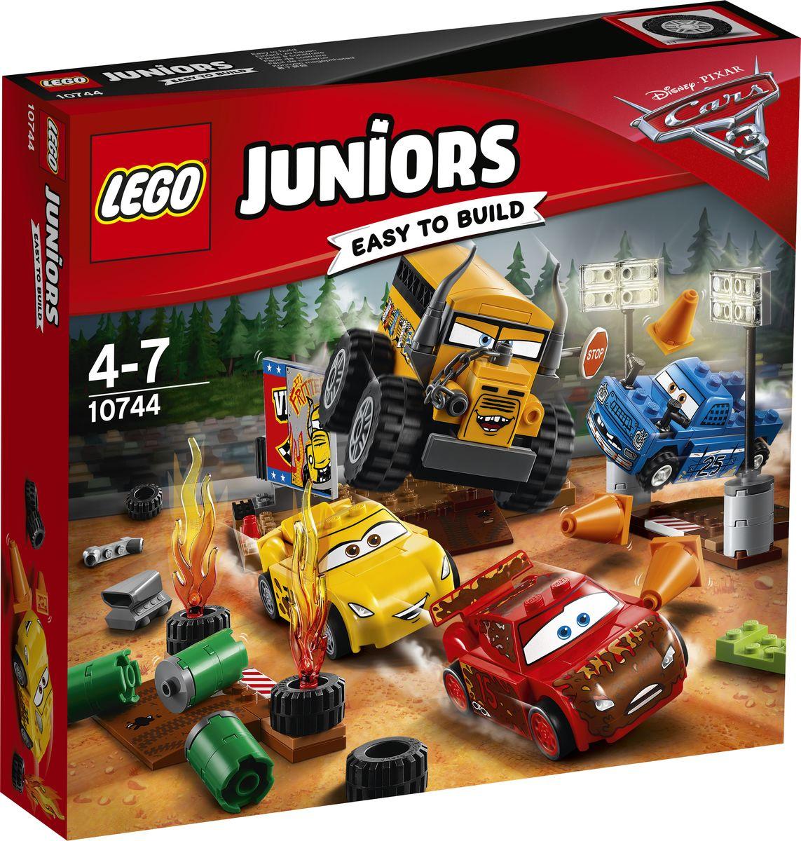 lego lego juniors 10673 ралли на гоночных автомобилях LEGO Juniors Конструктор Гонка Сумасшедшая восьмерка 10744