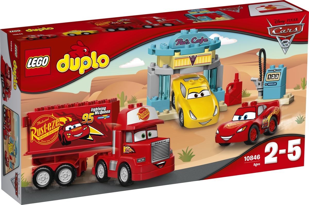 LEGO DUPLO Cars Конструктор Кафе Фло 10846 - Игрушки для малышей