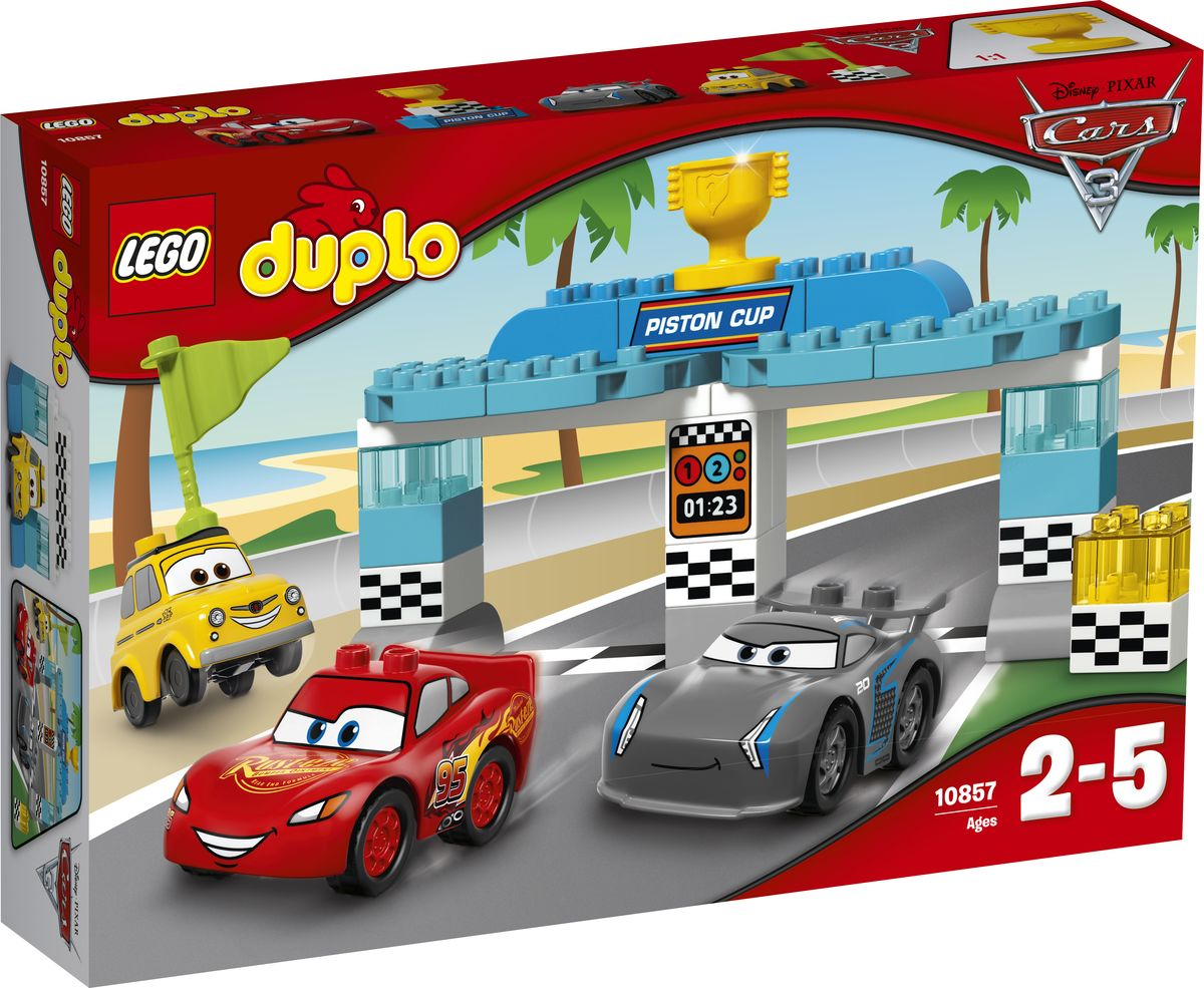 LEGO DUPLO Cars Конструктор Гонка за Кубок Поршня 10857 - Игрушки для малышей