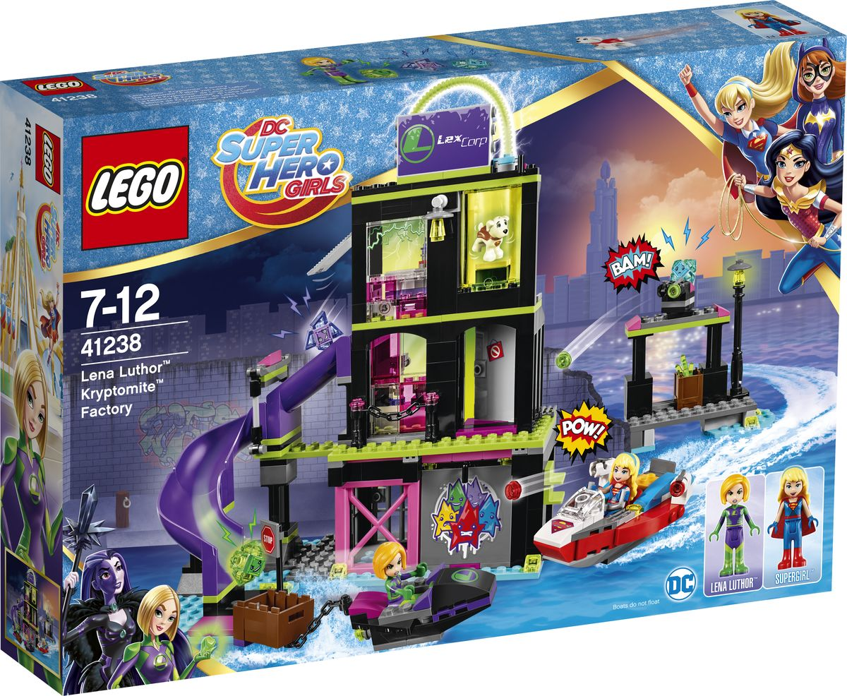 LEGO DC Super Hero Girls Конструктор Фабрика Криптомитов Лены Лютор 41238 lego история создания
