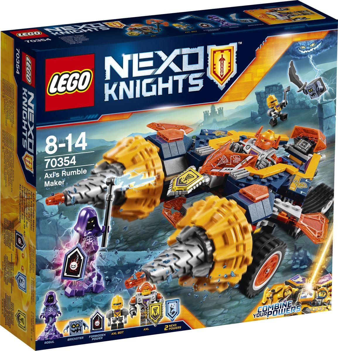 LEGO NEXO KNIGHTS Конструктор Бур-машина Акселя 70354 конструктор lego nexo knights 70348 турнирная машина ланса