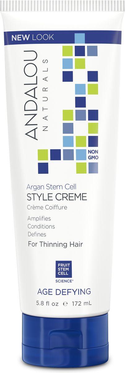 ANDALOU Питательный стайлинг-крем для укладки ослабленных волос Стволовые клетки Аргана, 172 мл5701000Стайлинг- крем обеспечивает гладкую, естественную укладку. Подходит для всех типов волос, особенно вьющихся, сухих и истонченных волос. Ухаживает и восстанавливает поврежденные волосы. Активно питает и укрепляет фолликулы, снижая ломкость и стимулируя здоровый рост. Стволовые клетки фруктов улучшают долговечность фолликул и их жизнеспособность для здоровых волос от корней до кончиков.