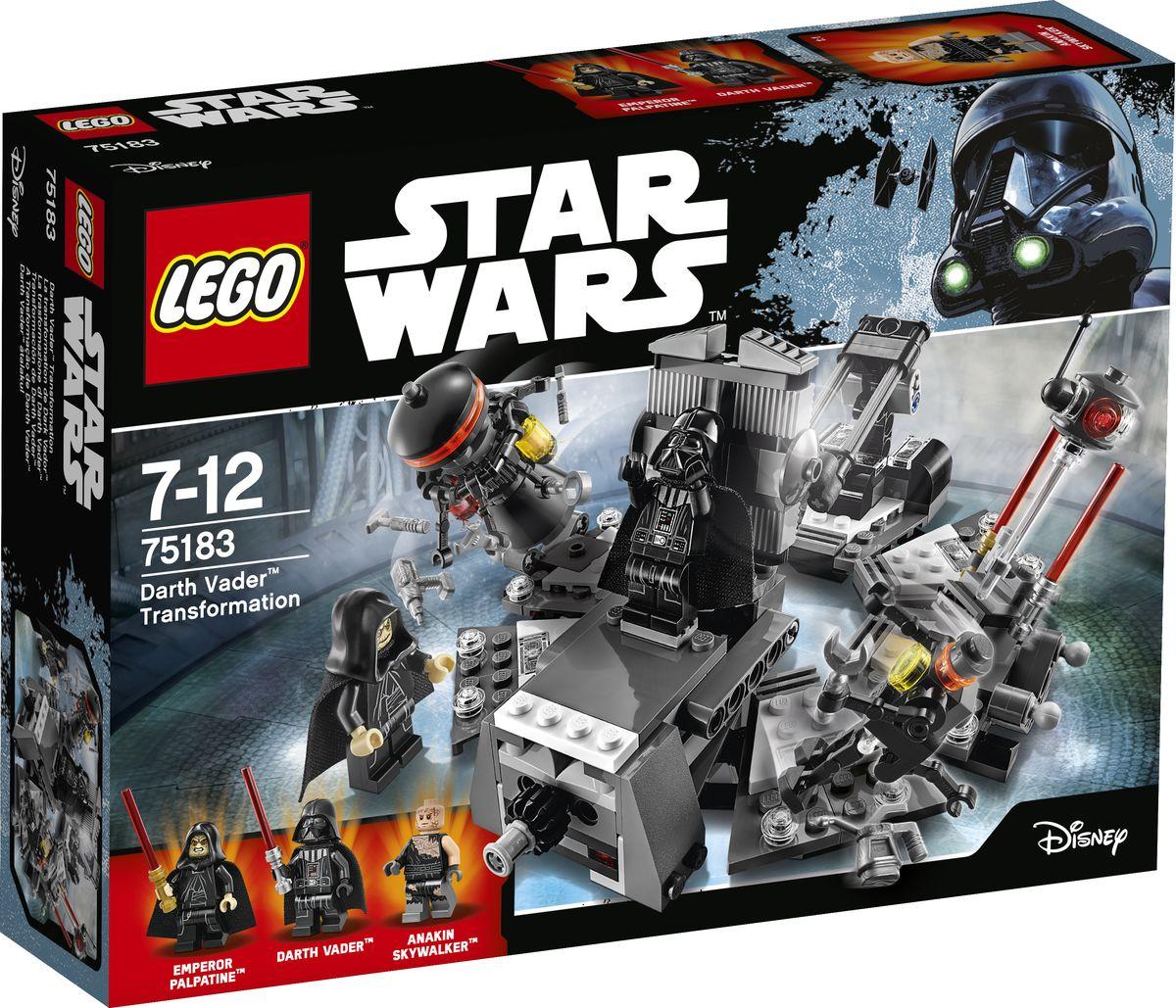 LEGO Star Wars Конструктор Превращение в Дарта Вейдера 75183 lego конструктор сид дарта вейдера против a wing star wars 75150