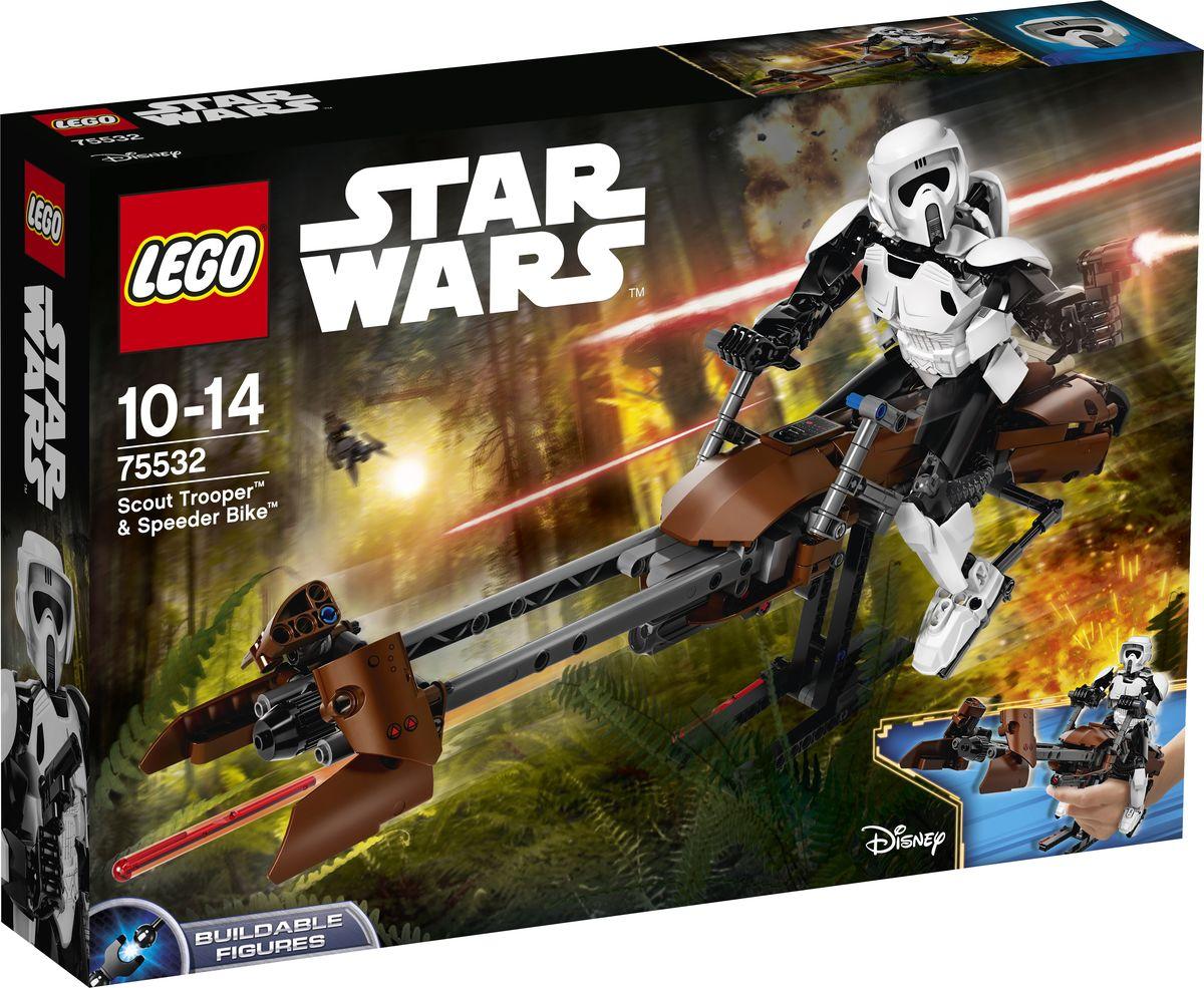 LEGO Star Wars Фигурка-конструктор Штурмовик-разведчик на спидере 75532