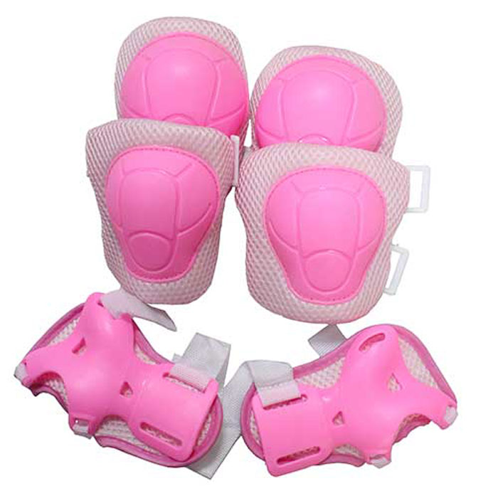 """Комплект защиты """"Action"""", для катания на роликах, цвет: розовый. ZS-200. Размер S"""