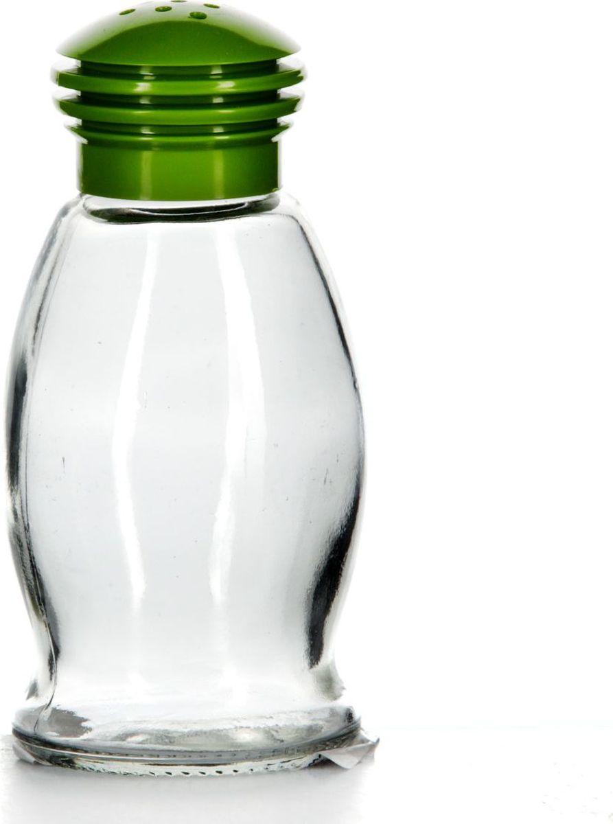 Солонка Herevin, 85 мл. 121091-000121091-000Солонка прозрачная с зеленой крышкой, V=85 мл, 53*53*105 мм