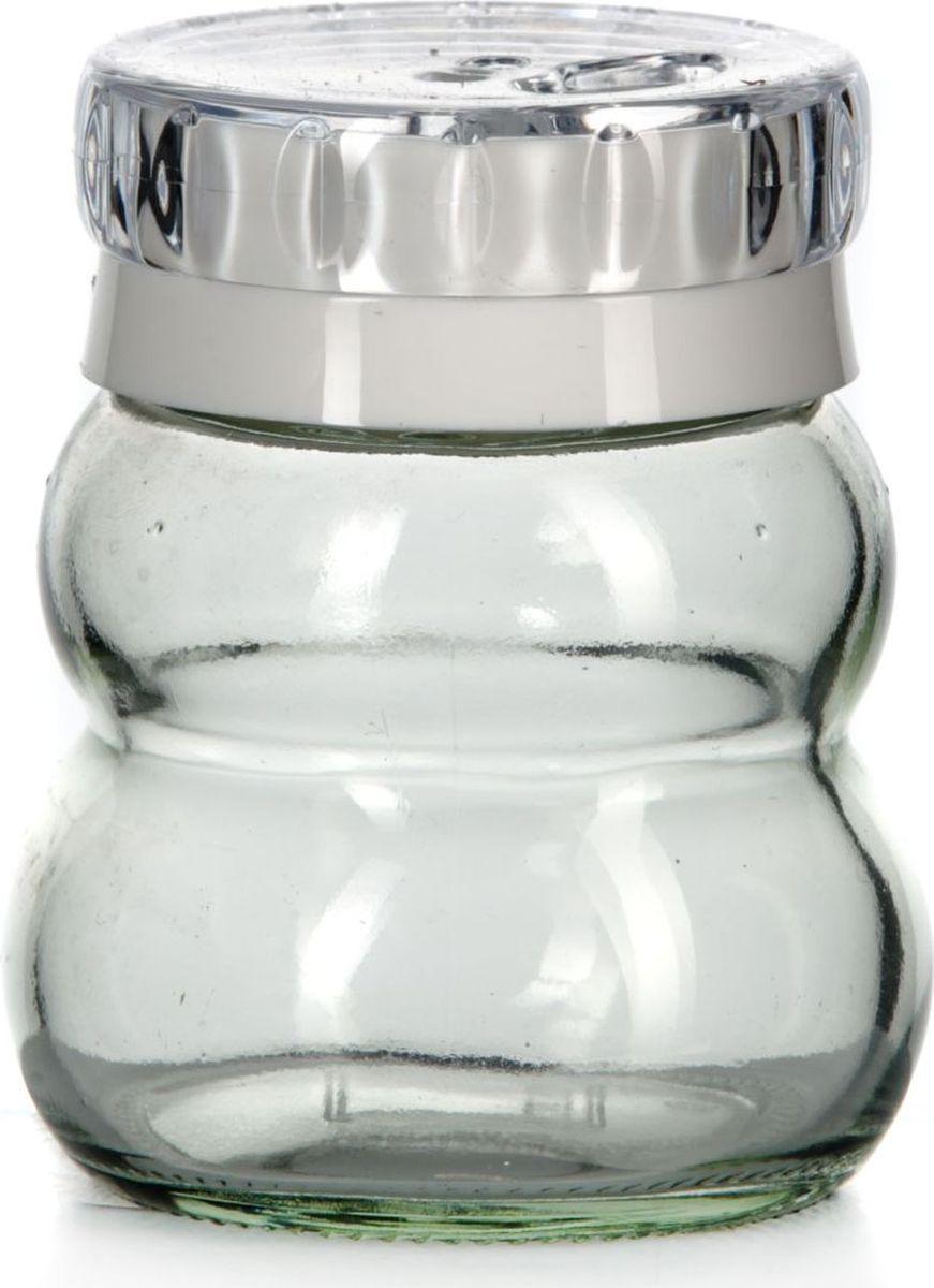 Банка для специй Herevin, цвет: прозрачный, белый, 200 мл. 131007-000131007-000Банка для специй Herevin выполнена из прозрачного стекла и оснащена пластиковой цветной крышкой с отверстиями разного размера, благодаря которым, вы сможете приправить блюда, просто перевернув банку. Крышка снабжена поворотным механизмом, благодаря которому вы сможете регулировать степень подачи специй. Крышка легко откручивается, благодаря чему засыпать приправу внутрь очень просто. Такая баночка станет достойным дополнением к вашему кухонному инвентарю. Можно мыть в посудомоечной машине.Объем: 200 мл.