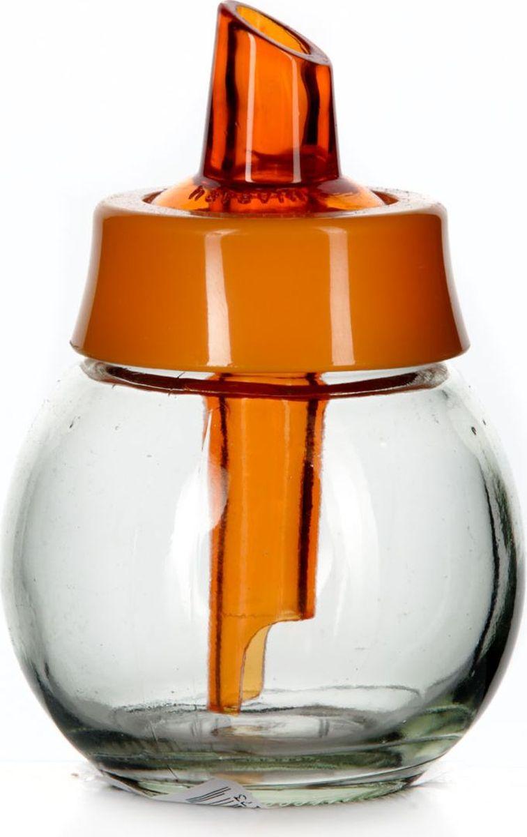 Сахарница Herevin, 200 мл. 131661-000131661-000Сахарница с дозатором прозрачная с оранжевой крышкой, V=200 мл, 80*80*110 мм