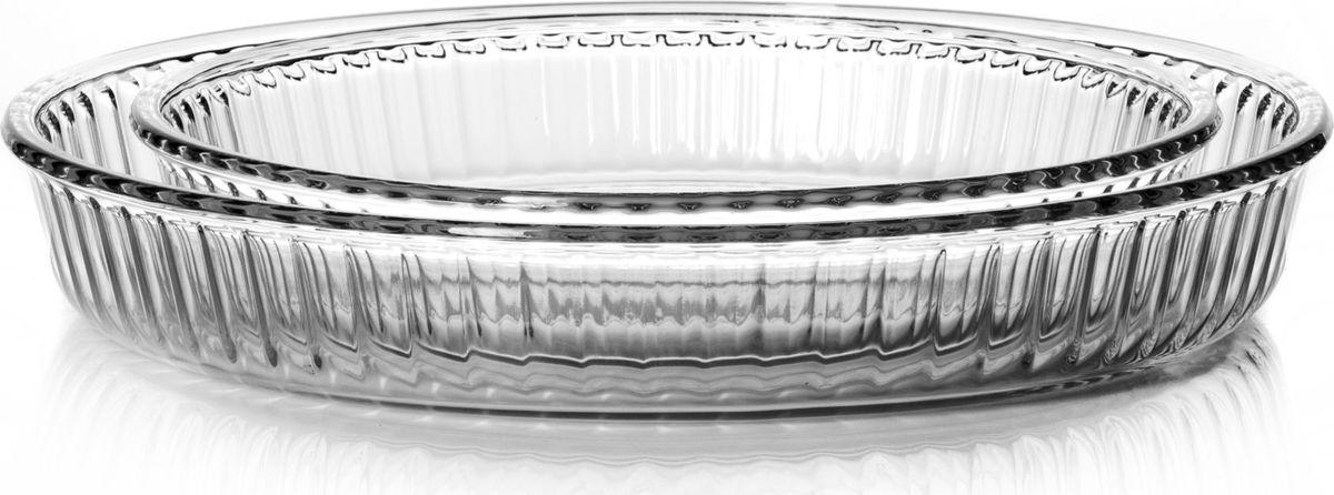 Набор форм для СВЧ Pasabahce, 2 шт. 159022 kitchenaid набор круглых чаш для запекания смешивания 1 4 л 1 9 л 2 8 л 3 шт черные