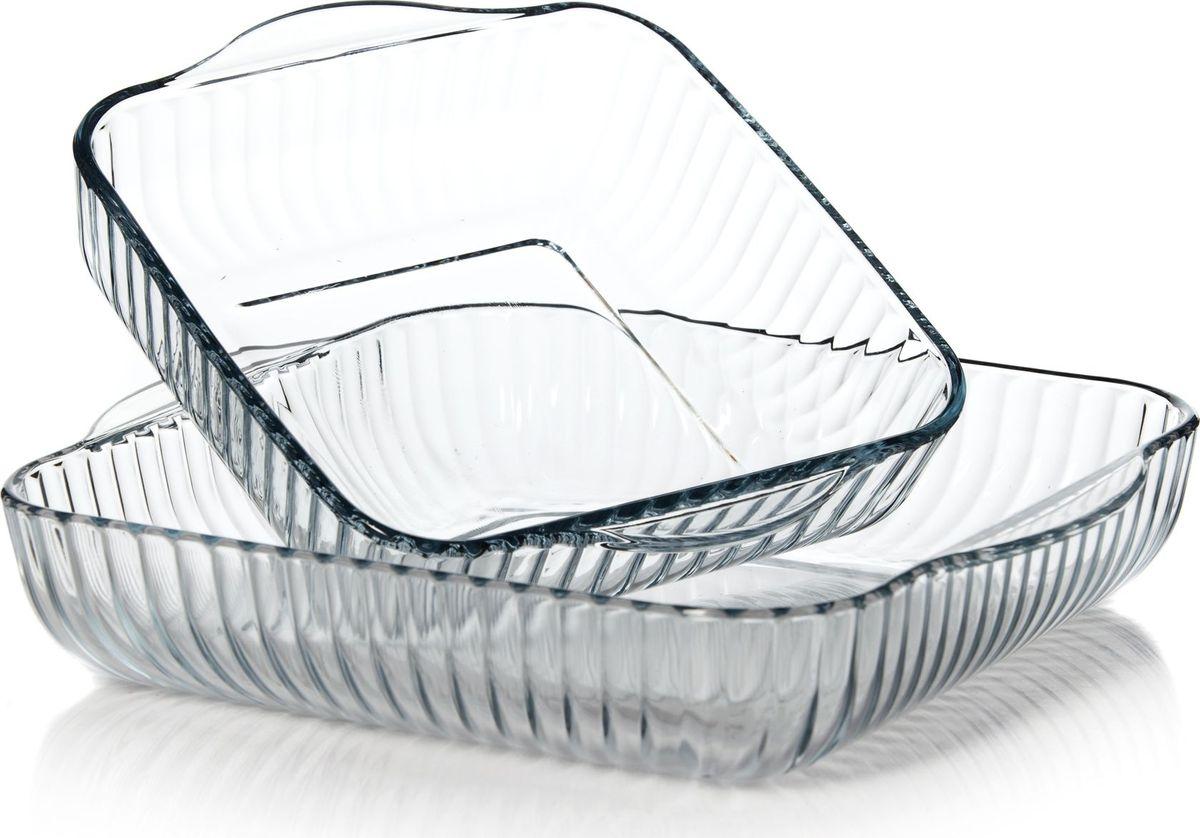 Набор форм для СВЧ Pasabahce, 2 шт. 159166 kitchenaid набор круглых чаш для запекания смешивания 1 4 л 1 9 л 2 8 л 3 шт кремовые