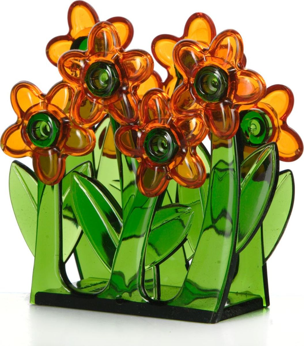 Салфетница Herevin. 161210-000161210-000Салфетница Herevin зелёного цвета с оранжевыми цветами изготовлена из высококачественного прочного пластика.