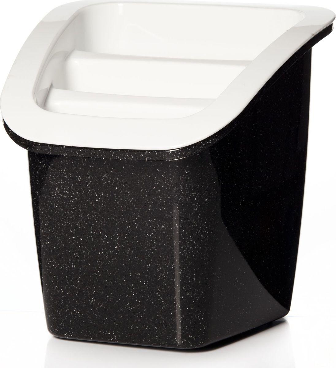 Подставка для столовых приборов Herevin, цвет: черный, белый. 161235-550 подставка для столовых приборов cosmoplast цвет красный диаметр 14 см
