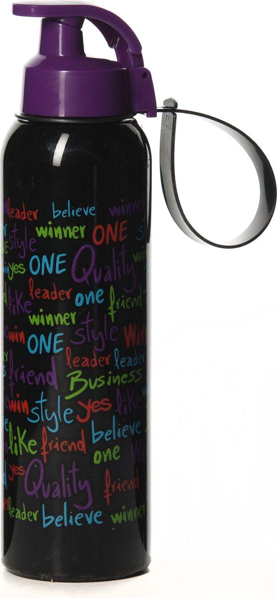 Бутылка для воды Herevin, цвет: черный, фиолетовый, 750 мл. 161405-030
