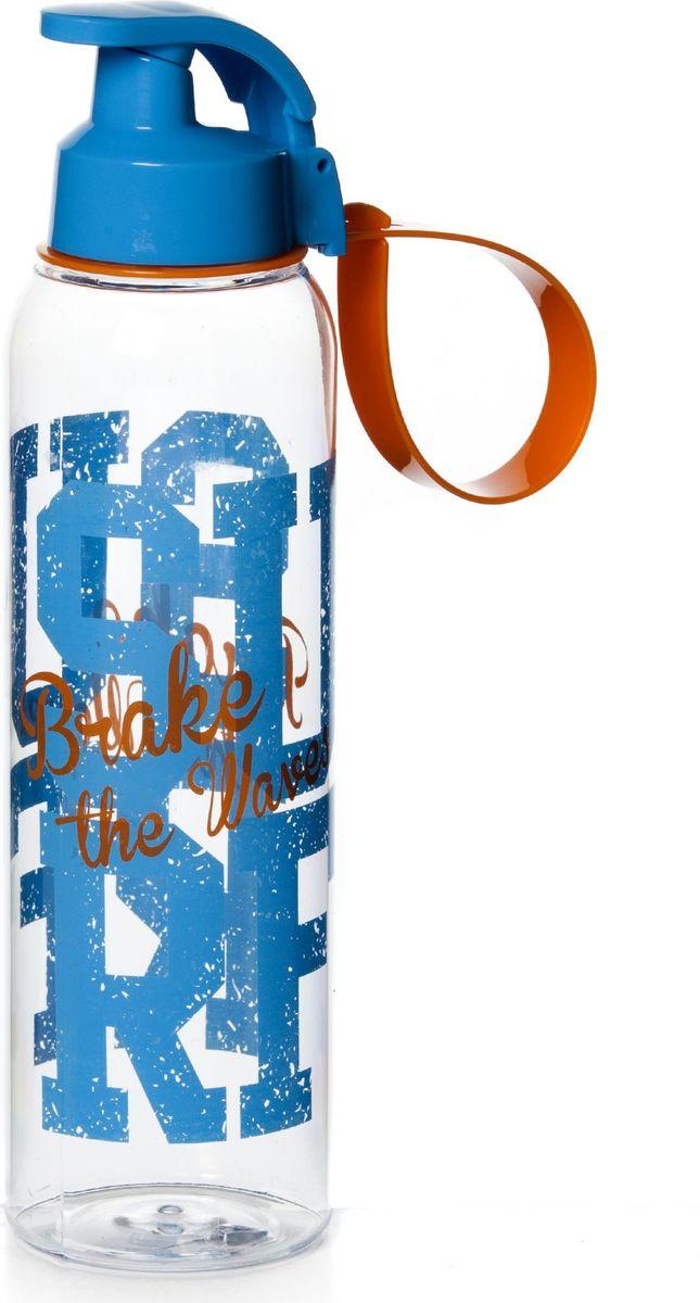 """Бутылка для воды """"Herevin"""" изготовлена из высококачественного пищевого пластика. Носик бутылки закрывается клапаном, благодаря чему  содержимое бутылки не прольется. Также изделие имеет регулируемую по длине петлю для удобства ношения. Внешние стенки дополнены ярким принтом.   Удобная бутылка пригодится как на тренировках, так и в походах или просто на прогулке."""