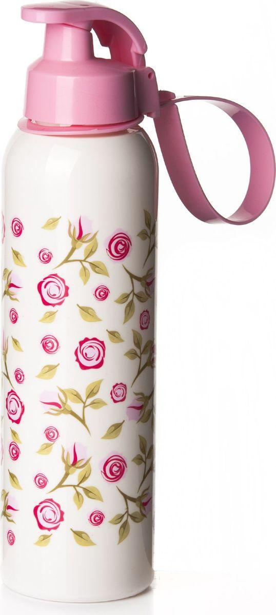 Бутылка для воды Herevin, цвет: белый, розовый, 750 мл. 161405-805161405-805Бутылка для воды Herevin изготовлена из высококачественного пищевого пластика. Носик бутылки закрывается клапаном, благодаря чему содержимое бутылки не прольется. Также изделие имеет регулируемую по длине петлю для удобства ношения. Внешние стенки дополнены яркимпринтом.Удобная бутылка пригодится как на тренировках, так и в походах или просто на прогулке.