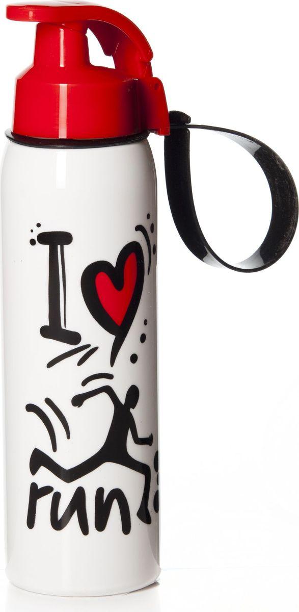 Бутылка для воды Herevin, 500 мл. 161415-010161415-010Бутылка для воды Herevin изготовлена из высококачественного твердого пластика. Бутылка снабжена закручивающейся крышкой с клапаном и регулируемой по длине петлей для удобства ношения.