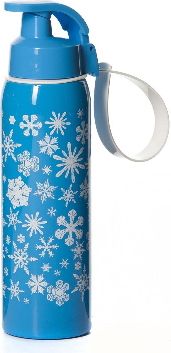 Бутылка для воды Herevin, цвет: синий, белый, 500 мл. 161415-040161415-040Бутылка для воды Herevin с горлышком, которое поднимается на 90 градусов, что обеспечивает простоту в использовании. Имеет удобную ручку для переноски.Возможно мытье в посудомоечной машине, легко собирается и разбирается. Технология материала Tritan обеспечивает долговечность и ударопрочность. Объем: 500 мл