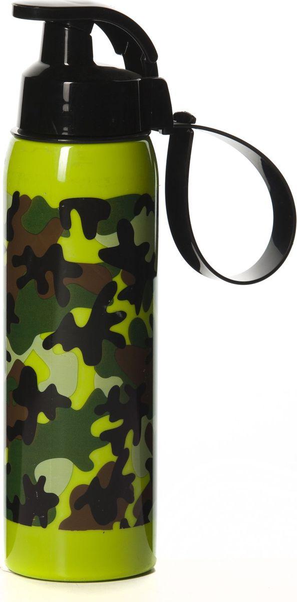 Бутылка для воды Herevin, цвет: зеленый, коричневый, черный, 500 мл. 161415-060 карнавальный костюм мышонок филипка батик