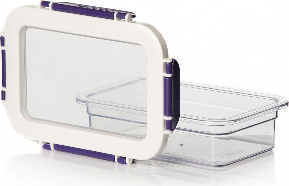 Контейнер для продуктов Herevin, 600 мл. 161426-003161426-003Контейнер для продуктов Herevin изготовлен из качественного пищевого пластика без содержания BPA. Крышка с 4 защелками плотно игерметично закрывается, поэтому продукты дольше остаются свежими. Прозрачные стенки позволяют видеть содержимое.Такой контейнер подойдет для использования дома, его можно взять с собой на работу, учебу, в поездку.Можно использовать в микроволновой печи без крышки. Нельзя мыть в посудомоечной машине.