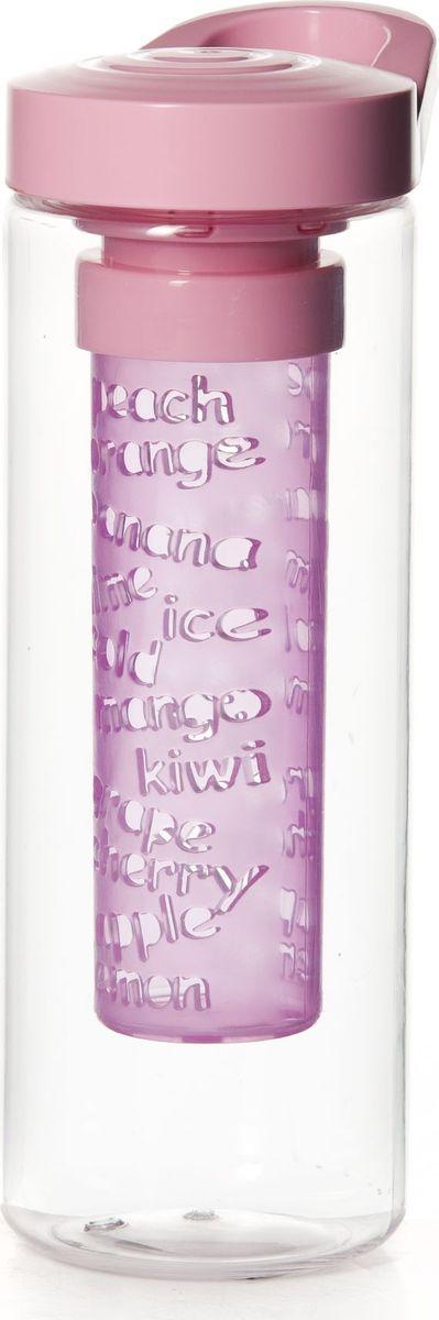 Бутылка для напитков Herevin, цвет: прозрачный, розовый, 750 мл161507-000Бутылка для напитков Herevin выполнена из качественного пластика и имеет прозрачные стенки. Специальная съемная секция с отверстиями предназначена для ягод и фруктов, что позволяет сделать свежий ароматный напиток. Пластиковая крышка с ручкой плотно закручивается, благодаря этому внутри сохраняется герметичность, и содержимое дольше остается свежим. Широкое горлышко позволяет без труда наполнять емкость. Бутылку с ароматным освежающим напитком удобно взять с собой на работу, учебу, прогулку, на занятия фитнесом и в поездки. Диаметр основания: 7 см.Высота емкости: 21 см.