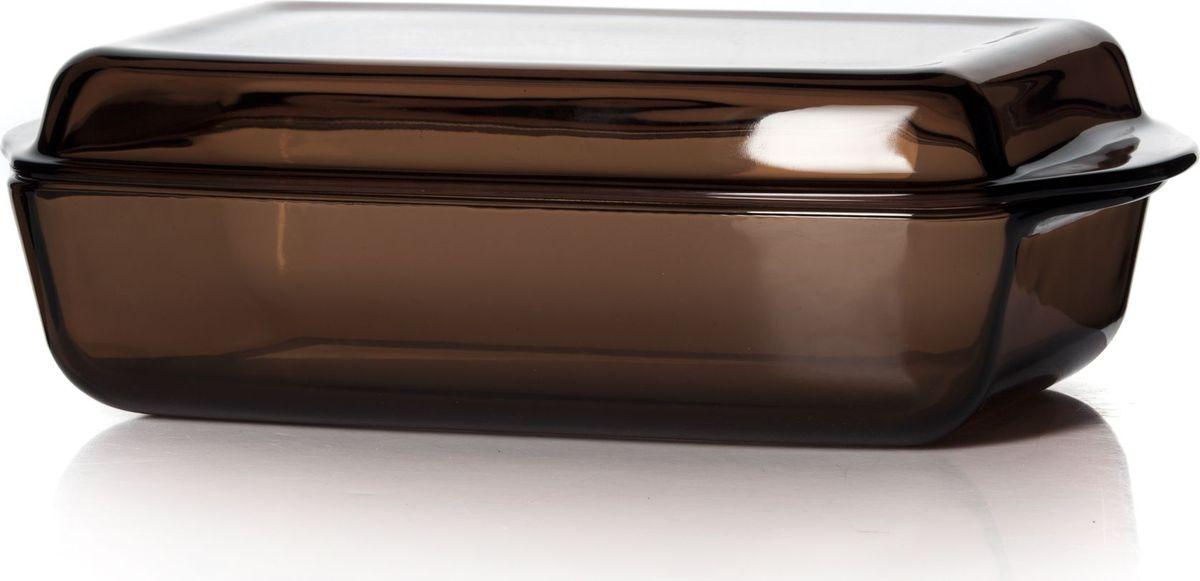 Форма для СВЧ Pasabahce, с крышкой, цвет: коричневый, 2,75 л. 59010BR59010BRПрямоугольная форма Pasabahce выполнена из термостойкого цветного стекла. Ее можно использовать как для приготовления пищи, так идля изящной подачи к столу. Может быть использована в микроволновых печах, духовках и морозильных камерах (выдерживает температуру от - 30°C до 300°C).