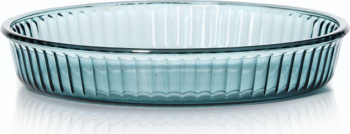Форма для СВЧ Pasabahce, диаметр 32 см. 59014AQ59014AQКруглая форма Pasabahce выполнена из цветного жаропрочного стекла, что позволяет использовать ее для запекания различных блюд. Форма не вступает в реакцию с готовящейся пищей, не выделяет никаких вредных веществ и не подвергается воздействию кислот и солей. Из-за невысокой теплопроводности пища в стеклянной посуде гораздо медленнее остывает. Поэтому в такой форме вы можете как приготовить пищу, так и изящно подать ее к столу, не меняя посуды. Благодаря прозрачности стекла за едой можно наблюдать при ее готовке. Стеклянная посуда очень удобна для приготовления и подачи самых разнообразных блюд.Форма дополнена рельефом с внутренней стороны. Посуду можно использовать в СВЧ и духовом шкафу при температуре до +300°С, ставить в морозилку при температуре -40°С, а также мыть в посудомоечной машине. Диаметр формы: 32 см.