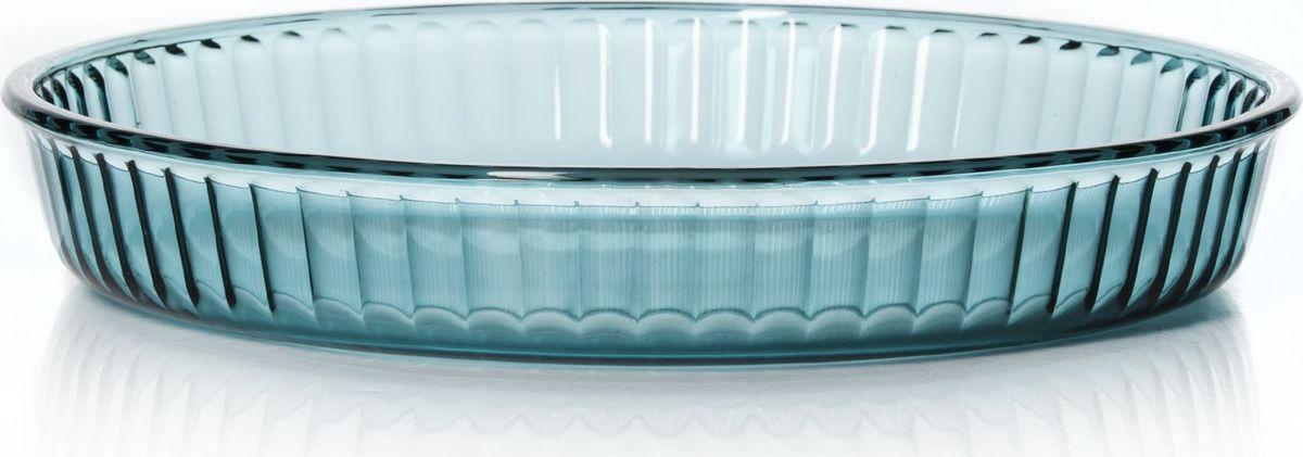 """Круглая форма """"Pasabahce"""" выполнена из термостойкого цветного стекла. Ее можно использовать как для приготовления пищи, так и для изящной подачи к столу.  Может быть использована в микроволновых печах, духовках и морозильных камерах (выдерживает температуру от - 30°C до 300°C). Диаметр: 26 см."""