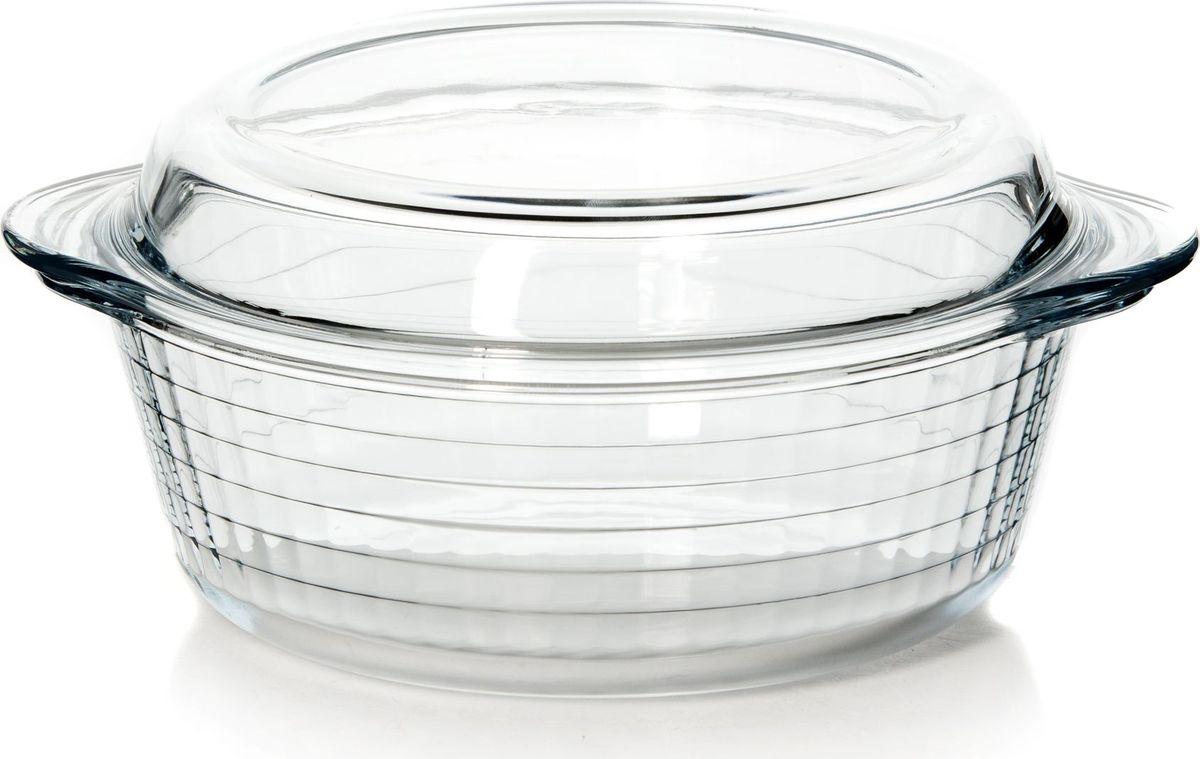Кастрюля для СВЧ Pasabahce, с крышкой, диаметр 25 см. 59103 посуда для свч pasabahce 59714