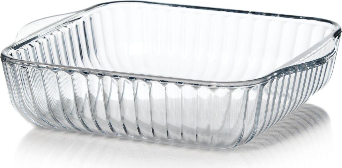 Форма для СВЧ Pasabahce, прямоугольная. 5938459384Прямоугольная форма для СВЧ Pasabahce выполнена из термостойкого стекла. Ее можно использовать как для приготовления пищи, так и для изящной подачи к столу. Может быть использована в микроволновых печах, духовках и морозильных камерах (выдерживает температуру от - 30°C до 300°C). Размер: 25,6 х 22 см.