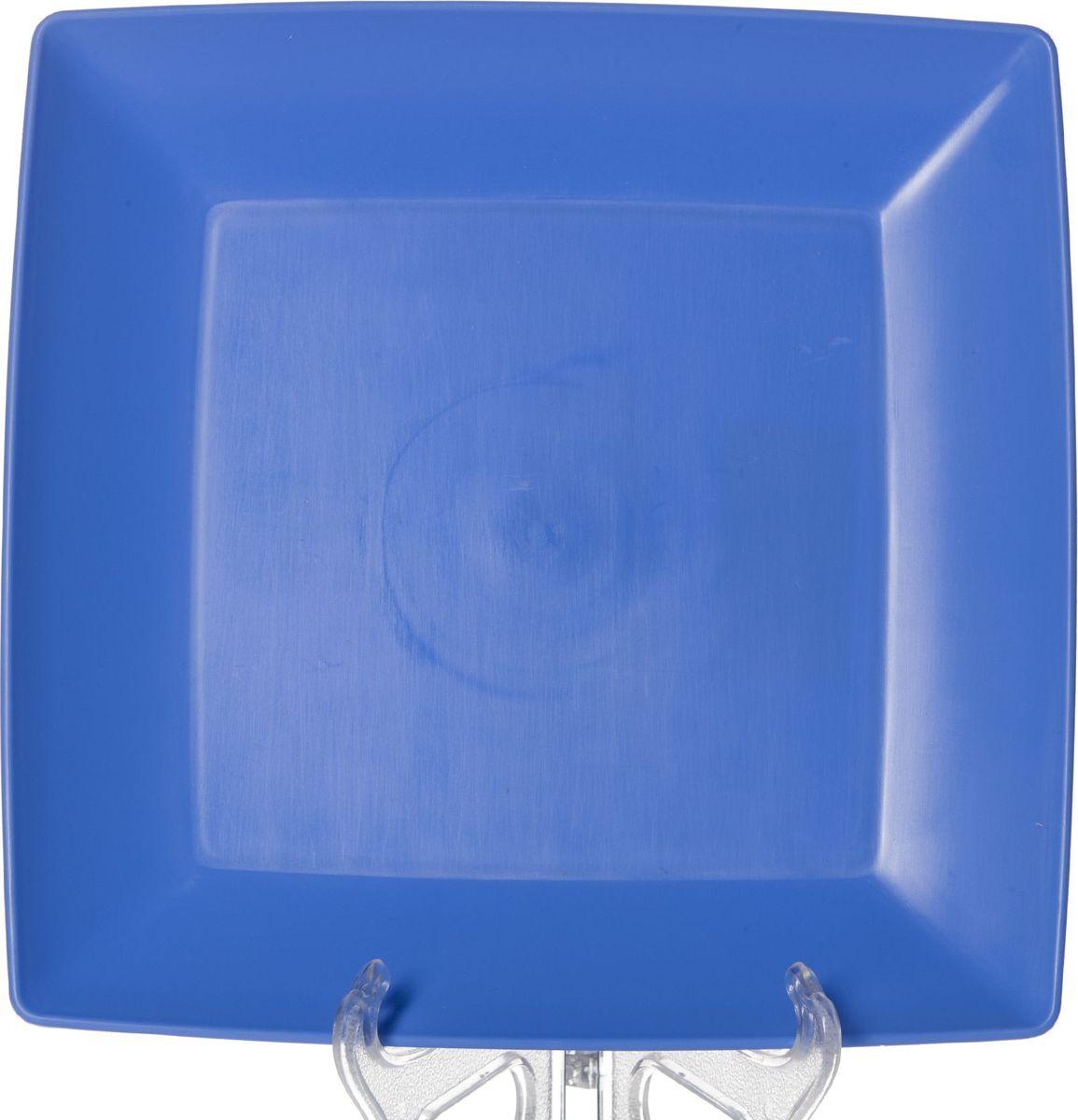 Тарелка Gotoff, цвет: синий, 23,5 х 23,5 смWTC-633Квадратная тарелка Gotoff выполнена из прочного пищевого полипропилена. Изделие отлично подойдет как для холодных, так и для горячих блюд. Его удобно использовать дома или на даче, брать с собой на пикники и в поездки. Отличный вариант для детских праздников. Такая тарелка не разобьется и будет служить вам долгое время.Можно использовать в СВЧ, ставить в морозилку при температуре -25°С и мыть в посудомоечной машине при температуре +95°С.