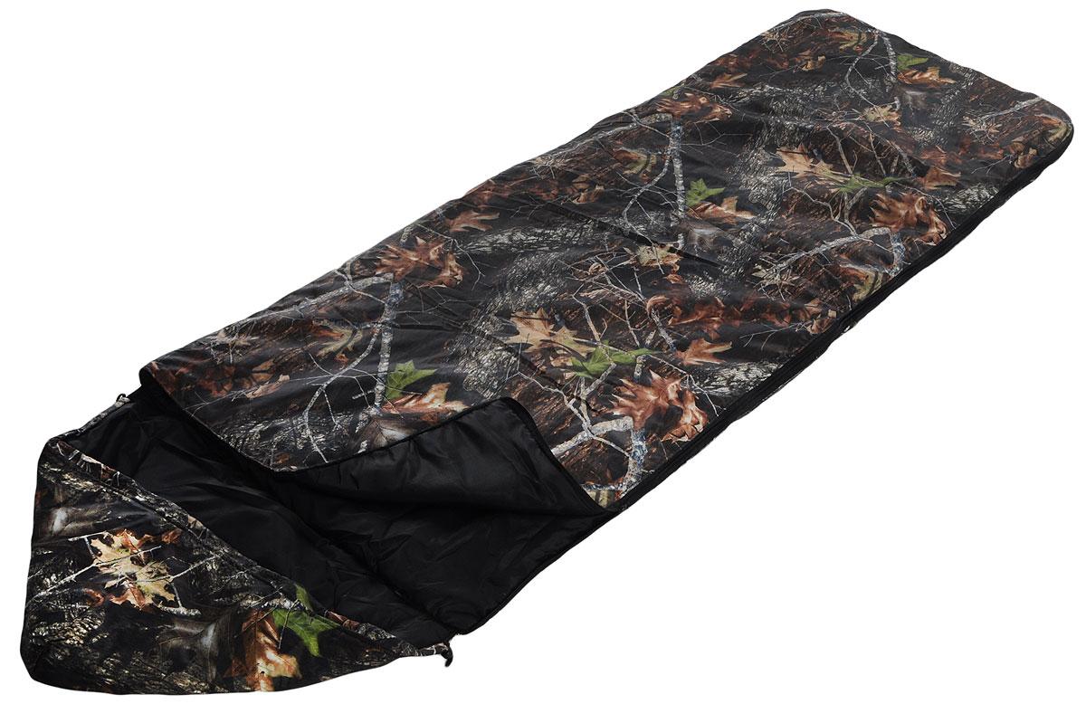 Мешок спальный Onlitop Эко, правосторонняя молния, цвет: хаки, 225 х 70 см