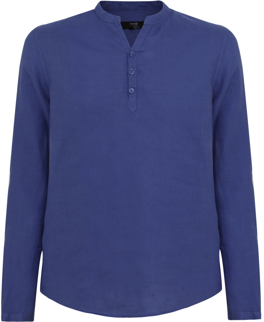 Рубашка мужская oodji Basic, цвет: индиго. 3B320002M/21155N/7800N. Размер XL-182 (56-182) рубашка мужская oodji basic цвет бирюзовый 3b320002m 21155n 7300n размер xxl 182 58 60 182