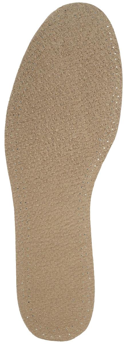 Стелька OmaKing, кожа на пенке из латекса, цвет: коричневый. T-440-41. Размер 40/41T-440-41Кожаные стельки изготовлены из эластичной свиной кожи на подкладке из латекса с содержанием активированного угля, который помогает предотвратить запах, впитывает влагу и создаёт благоприятный микроклимат для ног.