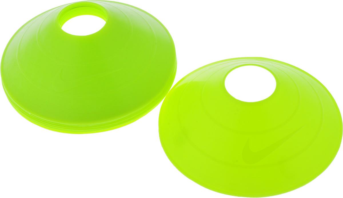"""Тренировочные конусы Nike """"10 Pack Training Cones Ns Volt"""", цвет: салатовый, 10 шт"""