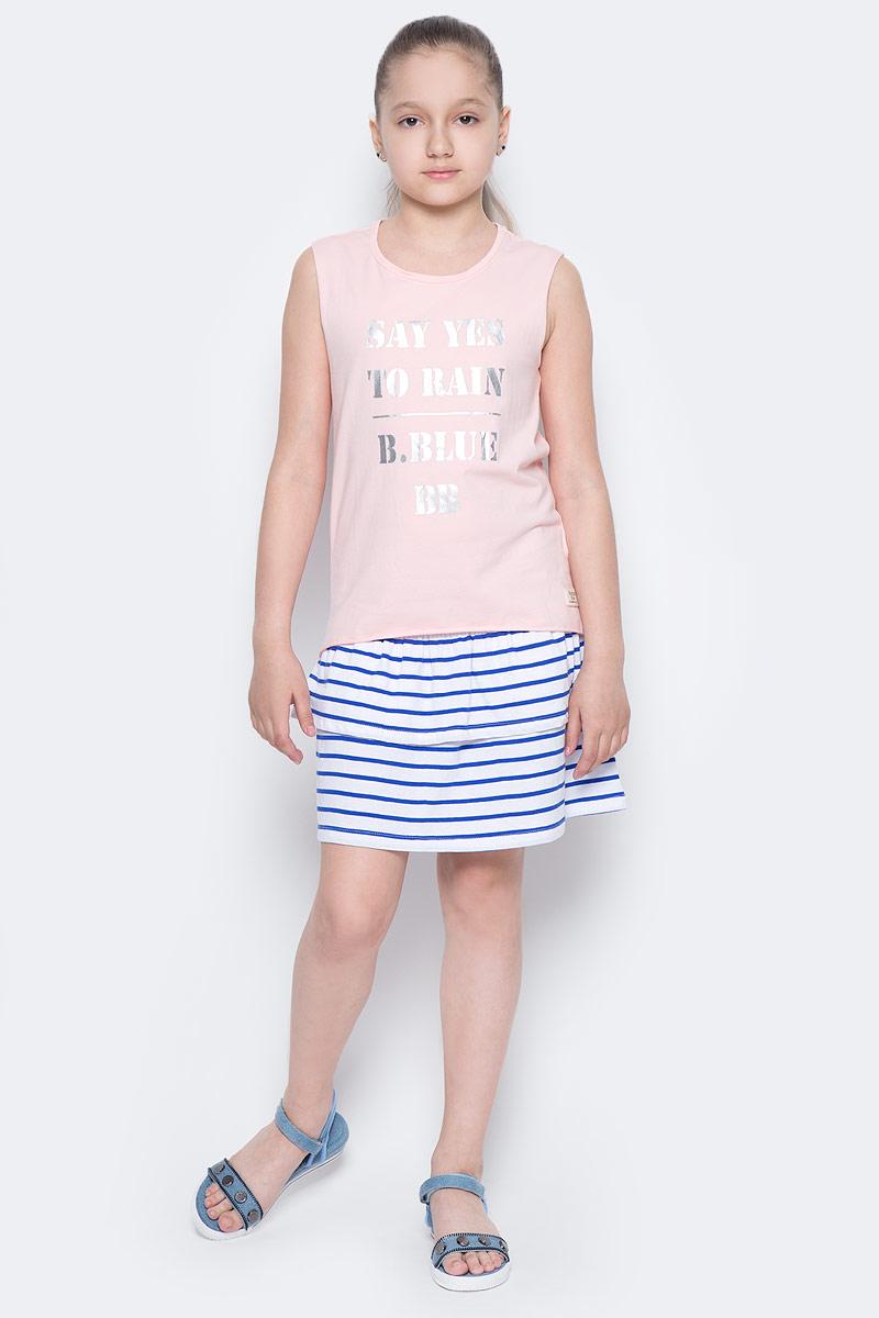 Майка для девочки Button Blue Main, цвет: розовый. 117BBGC10021200. Размер 152, 12 лет117BBGC10021200Майка для девочки с принтом - залог хорошего летнего настроения! Модная трапециевидная форма порадует ребенка. Если вы планируете купить недорогую модную майку для девочки, эта модель - отличный выбор!