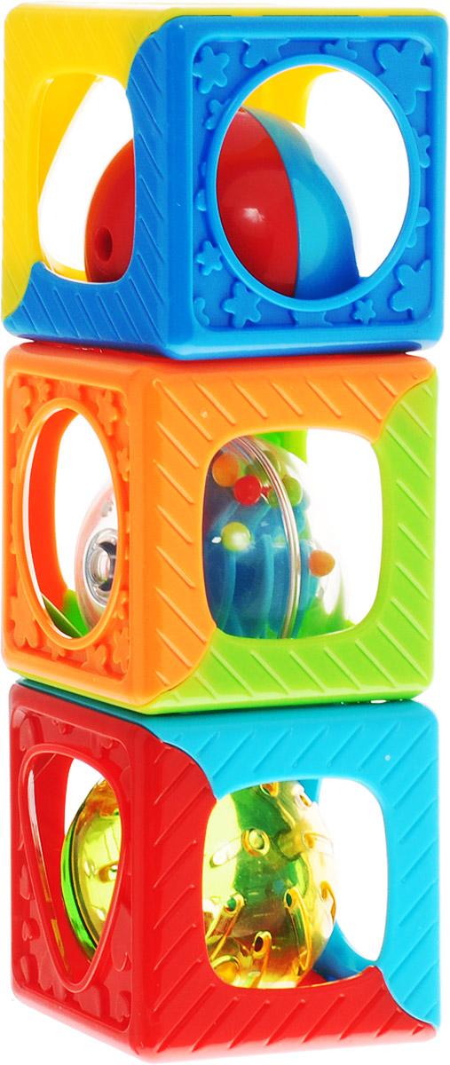 Playgo Развивающая игрушка Кубики-погремушка игрушка развивающая кубики мягкие ферма