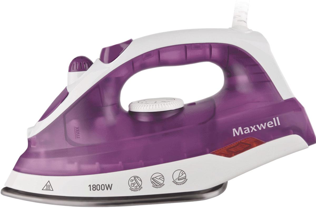Maxwell MW-3042(VT) утюгMW-3042(VT)В утюге Maxwell MW-3042(VT)все предусмотрено для легкого, быстрого и эффективного глажения. Данная модель оснащена подошвой из нержавеющей стали, что обеспечит легкое скольжение по тканям любой фактуры. Модель позволяет воспользоваться как сухим глажением, так и паровым. Благодаря наличию сильного парового удара вы можете использовать вертикальное отпаривание для глажения вещей, не снимая их с вешалки. Различные температурные режимы позволят подобрать нужную температуру для определенного вида ткани из шерсти, шелка, хлопка или синтетики. Функция разбрызгивания поможет еще эффективнее прогладить вещи, а вращающийся шнур обеспечит удобство работы.