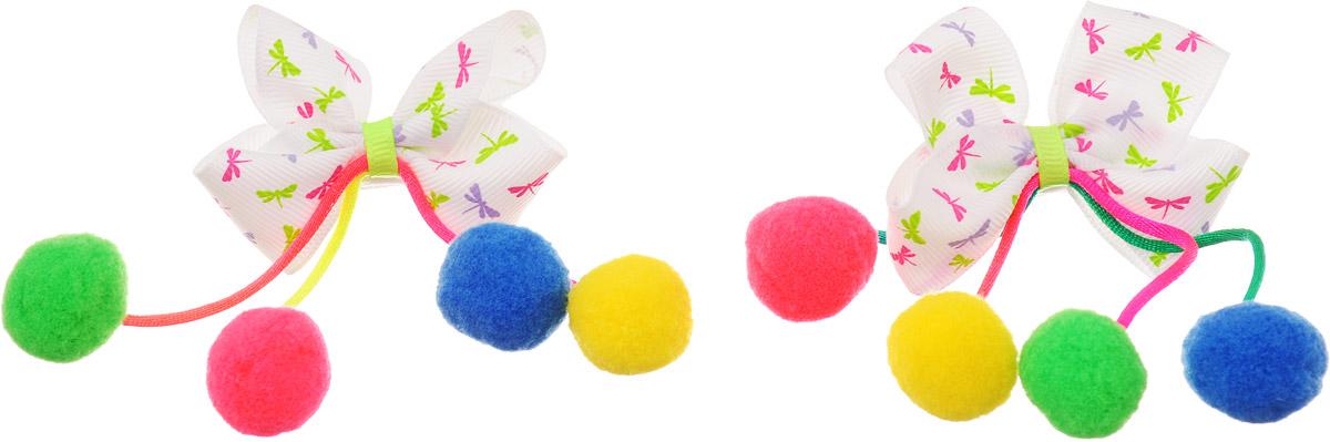 Baby's Joy Резинка для волос Помпоны малые цвет белый розовый салатовый 2 шт MN 202/2