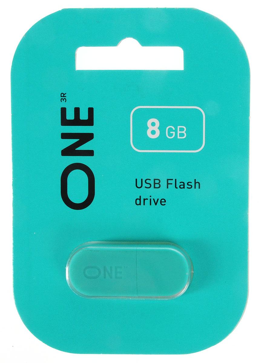 One 8 GB, Turquoise USB флеш-накопитель (ONE_USB_8GB_TQ)ONE_USB_8GB_TQФлеш-накопитель One отличается компактным размером. Перемещайте видео и другие объемные файлы с данными с помощью высокоскоростного флеш-устройства с интерфейсом USB 2.0.