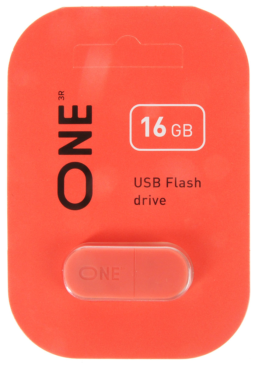 One 16 GB, Coral USB флеш-накопитель (ONE_USB_16GB_CR)